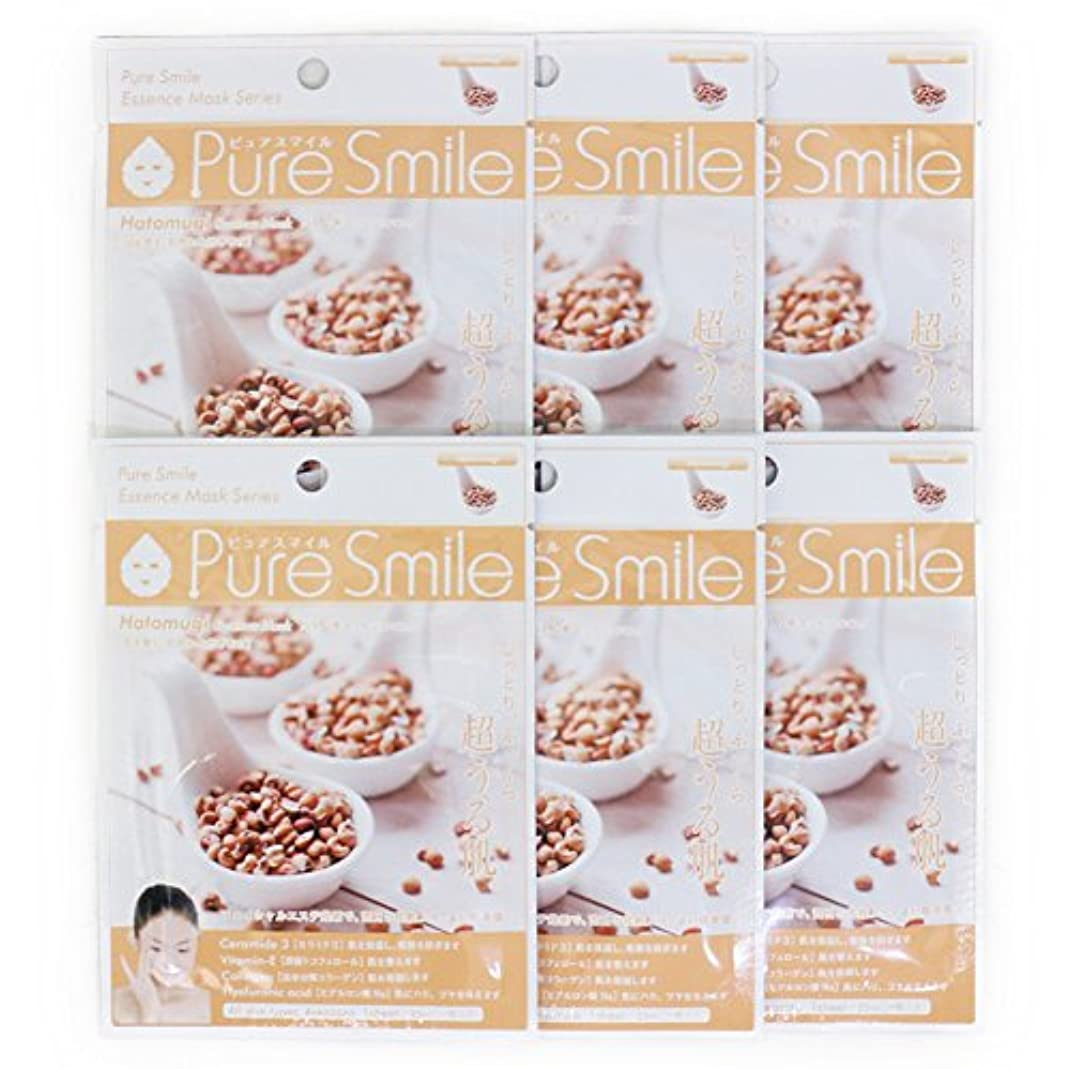 延ばす敬礼バリーPure Smile ピュアスマイル エッセンスマスク ハトムギ 6枚セット