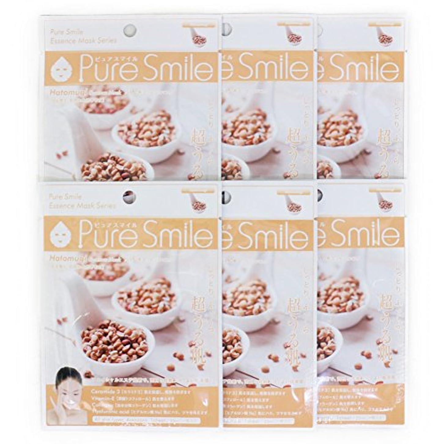 サラミ照らす給料Pure Smile ピュアスマイル エッセンスマスク ハトムギ 6枚セット