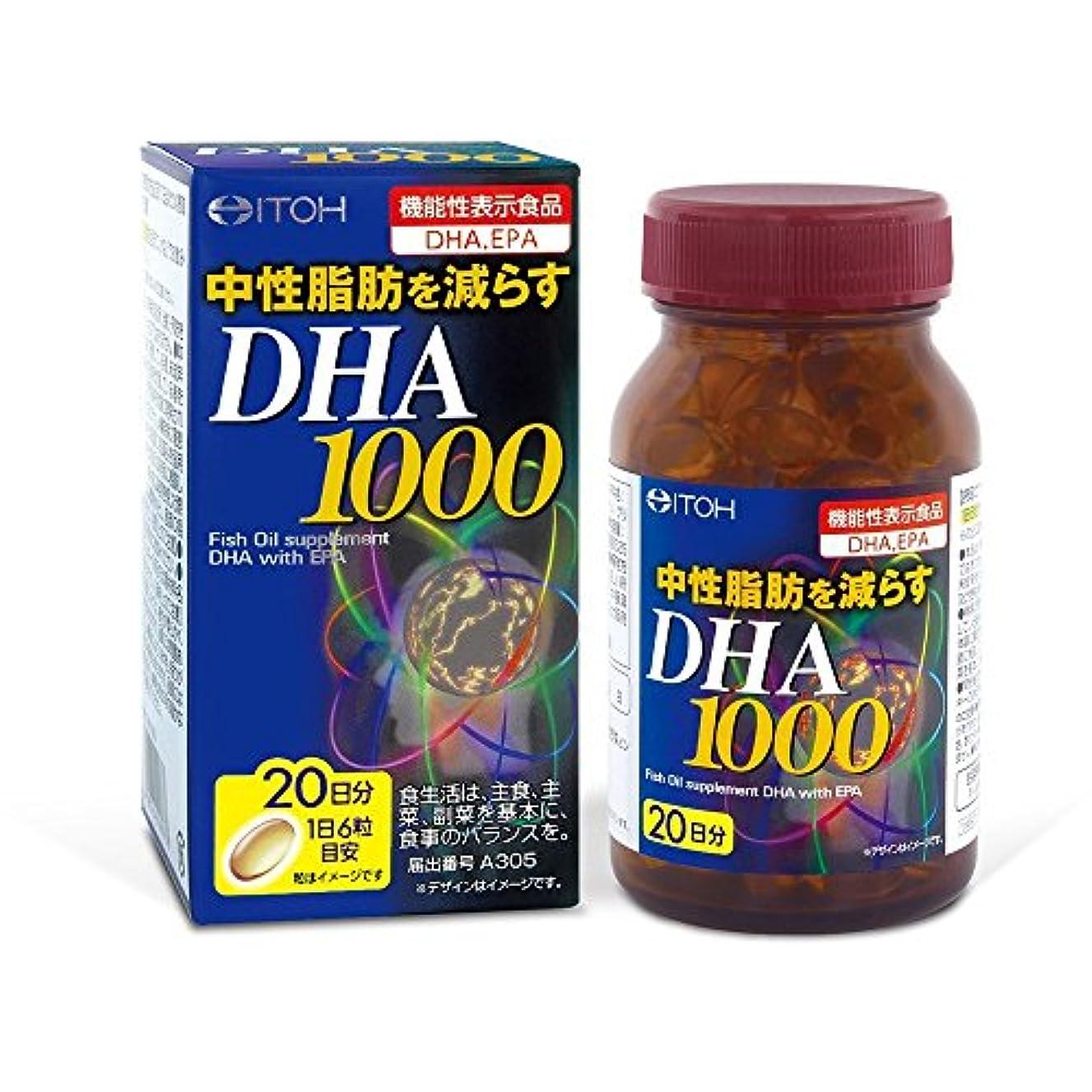 おしゃれな悔い改めハプニングDHA1000 約20日分×6個
