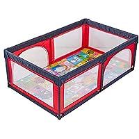 ベビーサークル ベビーベビーサークル室内キッズプレイヤードは、マットと庭ポータブル子供の安全フェンス遊び場を再生します (色 : Red)