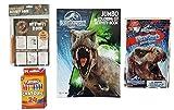 キッズアクティビティキットforホームまたはTravel : 4恐竜テーマアイテムのバンドル:カラーリングBook , Dino Craze 50ページアクティビティブック、Play Pack wit