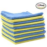 ヘドウィグFlying Car Washタオル厚手マイクロファイバークリーニングCloths–12パック