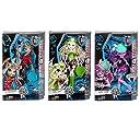 Monster High brand-boo生徒のセット3Dolls Kjersti Trollson ISI Dawndancer Batsy Claro