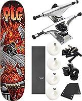 """Darkstarスケートボードクラッシュスケートボード7.875"""" X 31.2"""" Complete Skateboard–7項目のバンドル"""