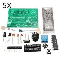5ピース C51 4ビット 電子時計 電子製作 スイート DIYキット