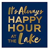 Slantカクテルナプキン20カウント–It 's Always Happy Hour at the Lake
