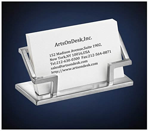 Details About Us Artsondesk Modern Art Business Card Stand St201 Stainless Steel Satin Finish