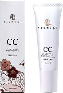 つむぎ 薬用 CCクリーム 30g 日本製 (SPF30 PA++) プラセンタ 配合 無添加 ・BBクリームより軽い付け心地