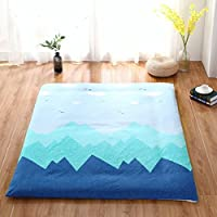 綿 畳床 ベッドスプレッド シート,たくさん厚 洗える 【防塵】 ジッパー付き の マットレス 寝具-H 200*220cm