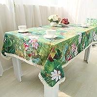 リネンテーブルクロス、クラシックスタイル、家庭用きれいなしわのないテーブルクロス、高温防湿多機能テーブルクロス, 140x180cm