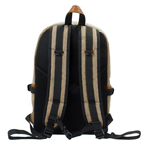(エコスシ)Ecosusiリュックサックアウトドアリュック通学遠足レディースメンズおしゃれバッグパック大容量14Lベージュ