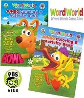 ワード・ワールドジャンボカラーリングandアクティビティブックSet ( 2Coloring Books )