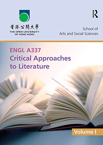 ENGL A337 Critical Approaches to Literature