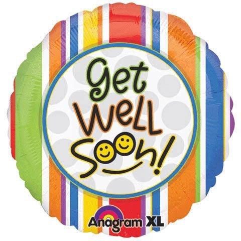 "Anagram Foil Balloon 18"" Get Well Soon Smiles by UB FUN [並行輸入品]"