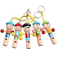 Domybest ホイッスル おもちゃ 子供 キッズ用 可愛い 木製玩具 笛 楽器おもちゃ 贈り物 誕生日ギフト (C)