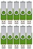 FEBNISCTE USBドライブ グリーン 512MB(512GBではありません) 低容量 スイング式 卸売(10個セット)