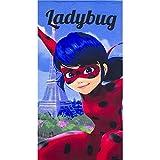 Kids Miraculous Ladybugビーチtowel-2018コレクション 70 X 140 CM ブルー ER4312