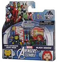 Marvel MiniMates Avengers Assemble Dark Avengers Exclusive Iron Man & Black Widow