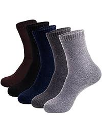 ビジネス靴下 メンズソックス 夏用 薄手 抗菌 防臭 吸汗 通気性抜群 無地5色5足組セット 25-28cm 綿 Dreecy