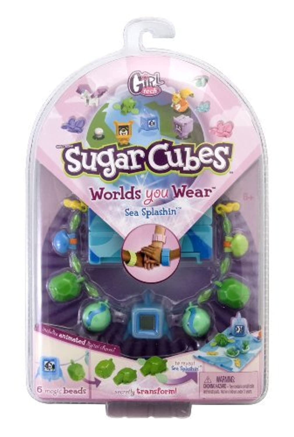 Sugar Cubes Worlds You Wear Sea Splashin Interactive Jewelry [並行輸入品]