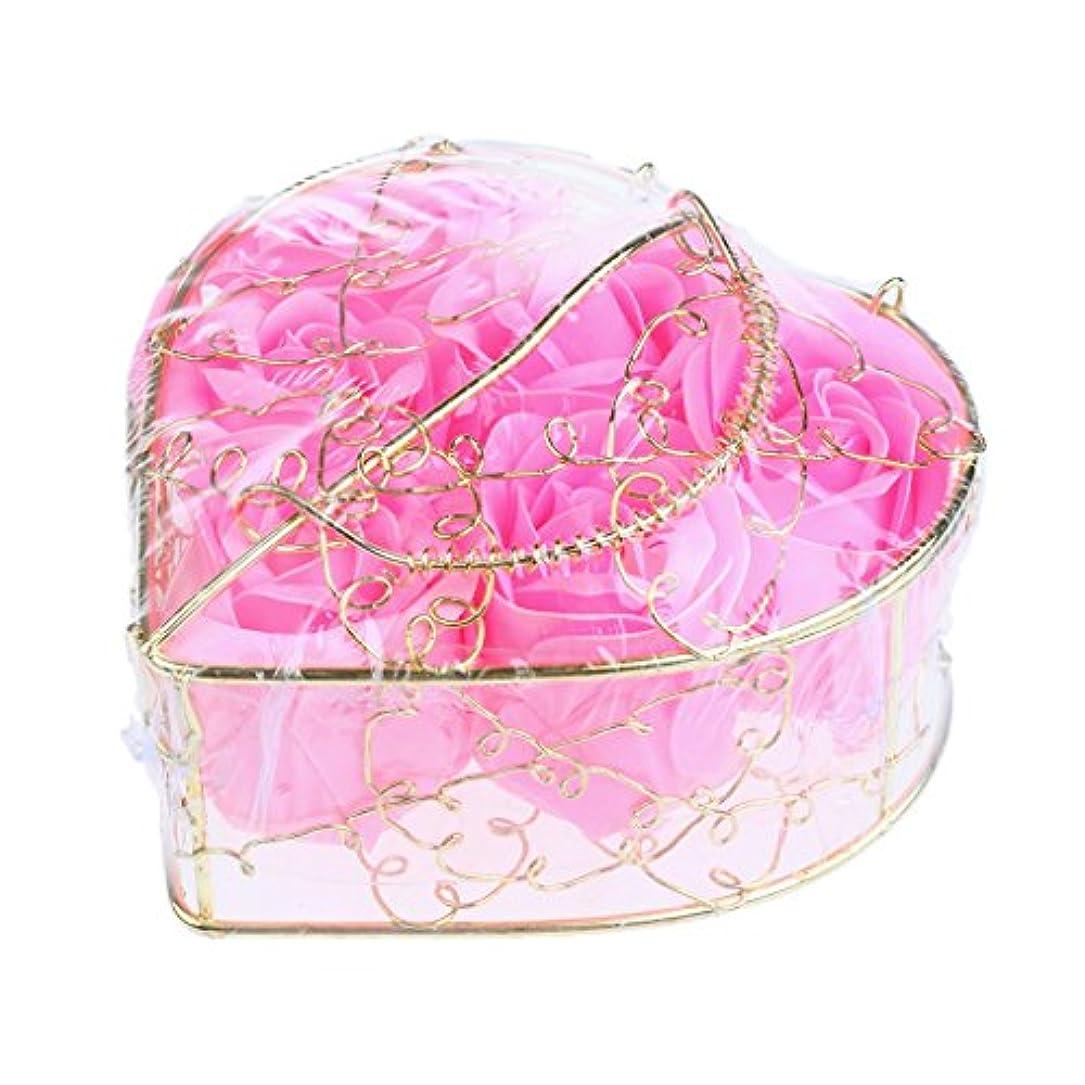 近代化する悪用イデオロギーPerfk 6個 石鹸の花 石鹸花  造花 フラワー バラ ソープフラワー  シャボンフラワー  フラワーボックス プレゼント 全5タイプ選べる - ピンク