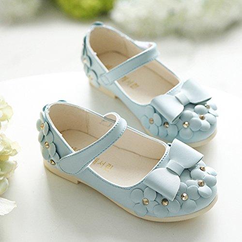 (チェリーレッド) CherryRed 子供靴 キッズ 女の子用 フォーマル靴 可愛い リボン 花 発表会 結婚式 卒園式 卒業式 入学式 七五三 24 ブルー