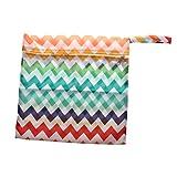 【ノーブランド品】 赤ちゃん おむつバッグ 防水 ジッパー 再利用可能 旅行用 収納袋 ケース バッグ 全5色 - 1