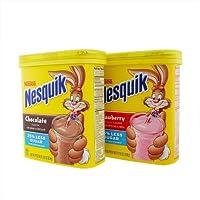 ネスレ ネスクイック インスタント フレーバーミルク 2個セット (チョコレート一個+ストロベリー1個) [並行輸入品]