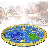 Viugreum 噴水マット 噴水おもちゃ プレイマット プール 水遊び プール噴水 子供プレゼント 親子遊び 芝生遊び 庭 アウトドア 家庭用 夏対策 噴水池 直径170CM