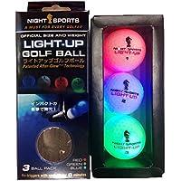 ライトアップゴルフボール Light Up Golf Ball 光るゴルフボール 赤、青、緑の3個セット