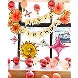 ピンク誕生日風船セット バースデー パーティー HAPPY BIRTHDAY豪華バルーンデコレーションキット