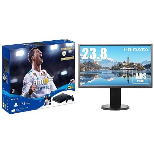 PlayStation 4 FIFA 18 Pack+I-O DATA モニター ディスプレイ EX-LD2383DBS