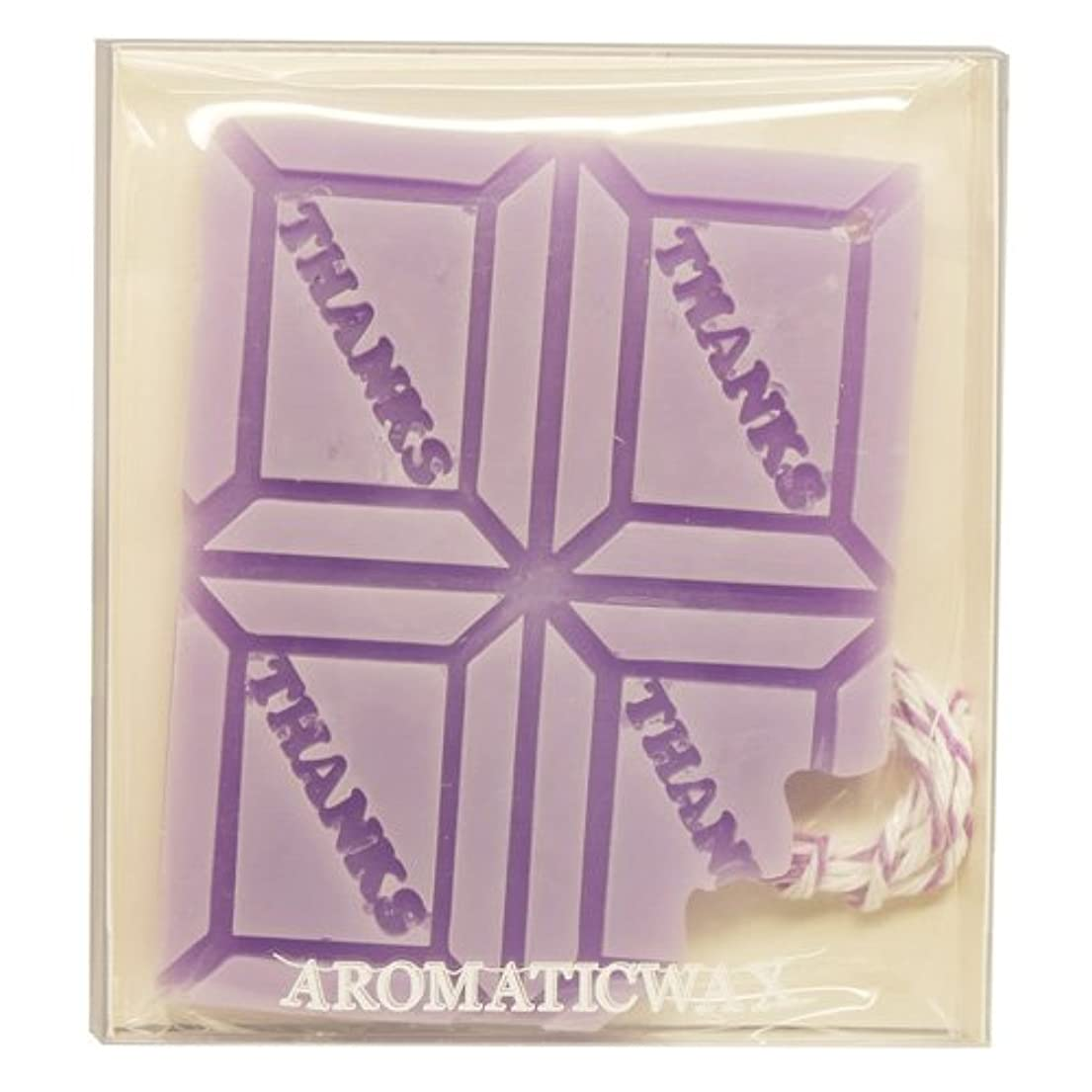 分注する生理半径GRASSE TOKYO AROMATICWAXチャーム「板チョコ(THANKS)」(PU) ラベンダー アロマティックワックス グラーストウキョウ