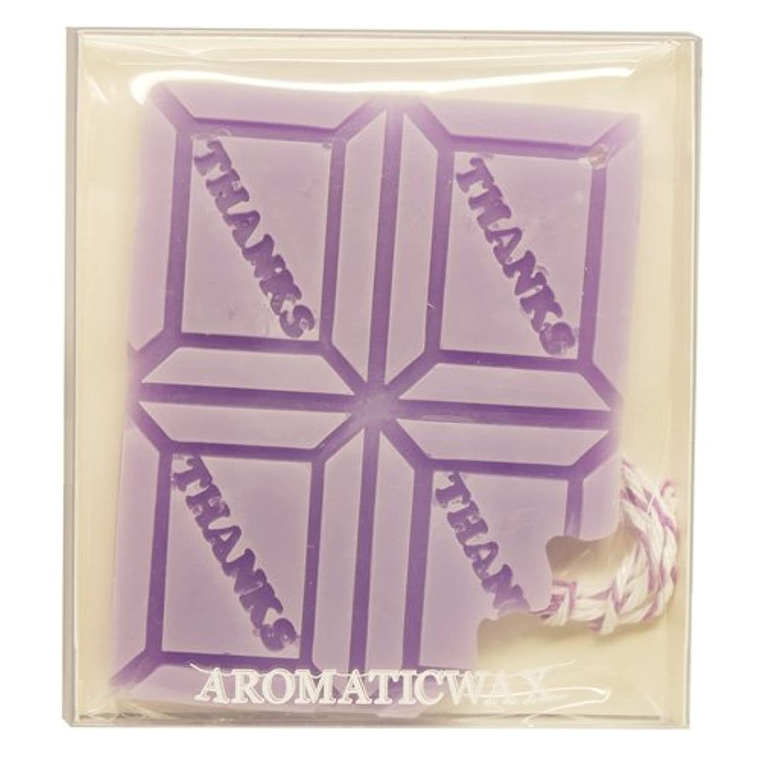 周術期納得させる動機GRASSE TOKYO AROMATICWAXチャーム「板チョコ(THANKS)」(PU) ラベンダー アロマティックワックス グラーストウキョウ