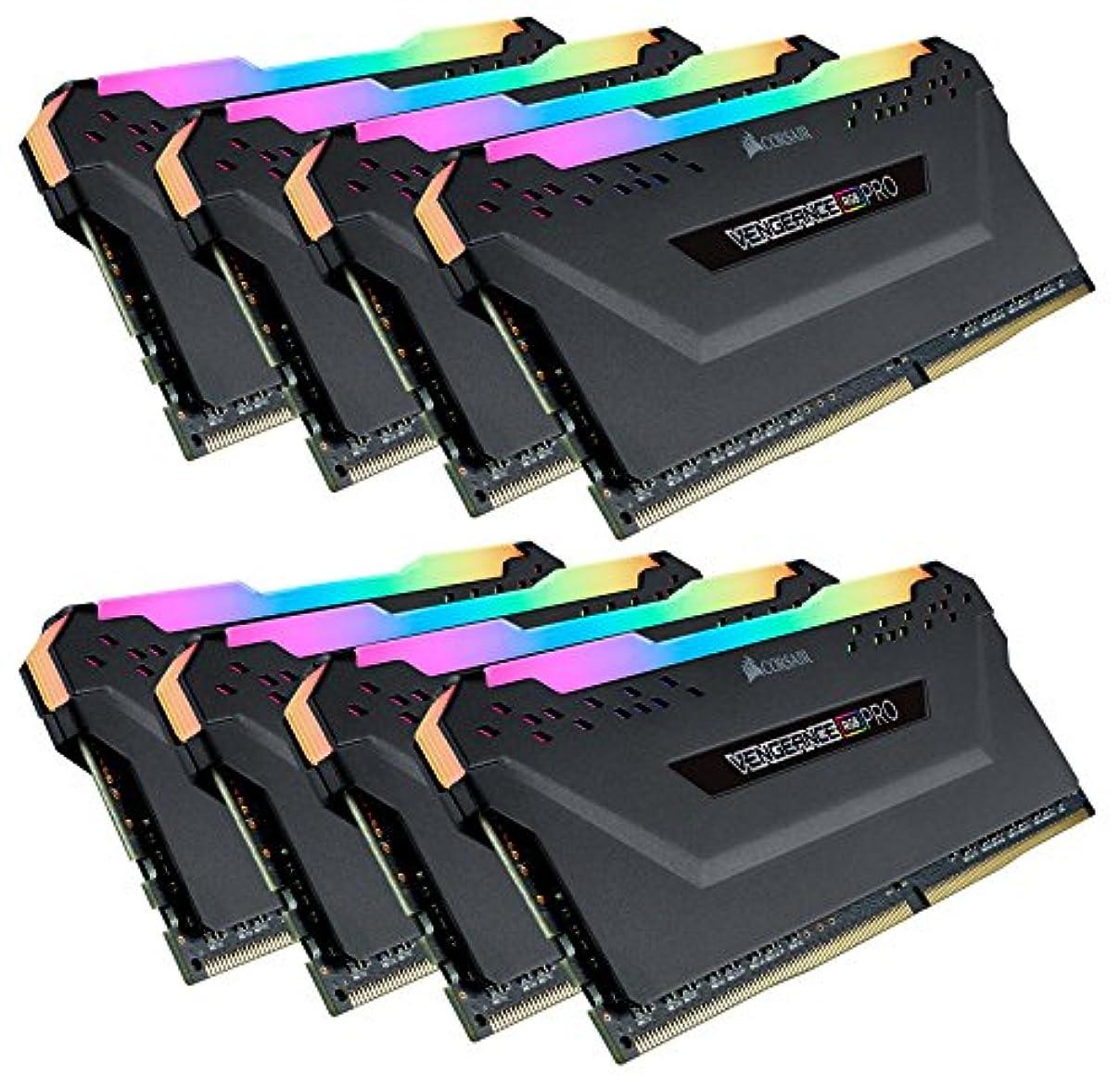 宇宙飛行士試験付き添い人CORSAIR DDR4-3600MHz デスクトップPC用 メモリ VENGEANCE RGB PRO シリーズ 128GB [16GB×8枚] CMW128GX4M8X3600C18