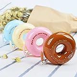 katoot @ 4pcs Kawaii Donuts補正テープノベルティキャンディカラー装飾修正テープKorean Stationery材質Office School Supplies