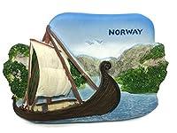 Viking Ship Museum NORWAY Souvenir Collection 3D Fridge Refrigerator Magnet Hand Made Resin - ノルウェー 冷蔵庫のマグネット 冷蔵庫用マグネット 磁石 お土産 コレクション 手作り 樹脂