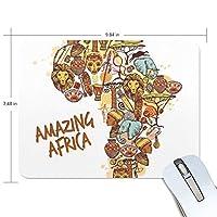 アフリカの地図 マウスパッド 滑り止めゴム製裏面 おしゃれ 厚くした 事務用のマウスパッド 携帯用 25X19CM