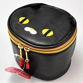 バニティケース(化粧道具入れ) 黒猫 PEACH SALON