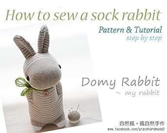 amazon co jp how to sew a sock rabbit domy rabbit pattern