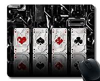 最高の贈り物のアイデアマウスパッド、ゲームカードラバーマウスパッドステッチエッジ