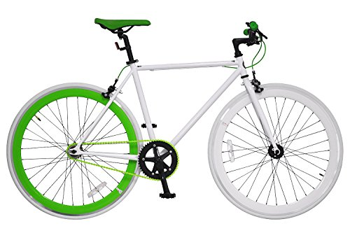 ANIMATO(アニマート) ピストバイク 700C PISTO ホワイト×グリーン シングルスピード A-12