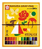 サクラクレパス クレパス 24色 ゴムバンド付き LP24R