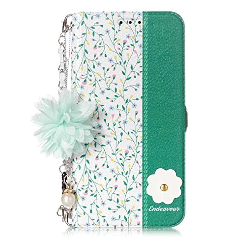 良心的記念日マウスOMATENTI Galaxy S6 Edge ケース, 簡約風 軽量 PU レザー 財布型 カバー ケース, こがら 花柄 人気 かわいい レディース用 ケース ザー カード収納 スタンド 機能 マグネット, Galaxy...