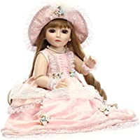 リボーンベビードール 抱き人形 シリコーン ビニール 可愛い 姫様 45cm バービー 着せ替え人形 ままごと 子供玩具 可愛い ベビーケア シリコン 誕生日 プレゼント Hillrong
