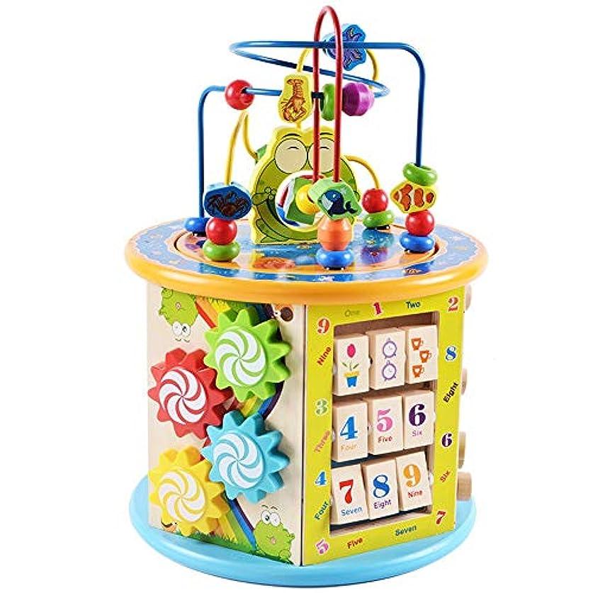 哲学博士四半期ホイップビーズのおもちゃ ウッド形状&色選別機、ビーズ迷路&アーリー?ラーニングと開発のためのカウント赤ちゃんのおもちゃ (Color : Multi-colored, Size : Free size)