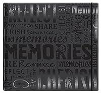 """Gloss Post Bound Scrapbook 12""""X12""""-Memories - Black (並行輸入品)"""