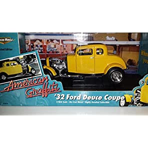 "AMERICAN MUSCLE ERTL  1:18 ""American Graffiti"" '32 Ford Deuce Coupe アメリカンマッスル 1:18スケール 「アメリカン グラフィティ」 1932 フォード デュース クーペ"