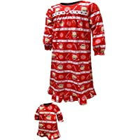 The Elf on the Shelf Girls  Elf on The Shelf Flannel Nightgown with  Matching Doll 34154c10d