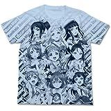 ラブライブ!サンシャイン!! オールプリントTシャツ ライトブルー Mサイズ